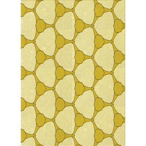 East Urban Home Acle Wool Yellow Area Rug X112946678 Rug Size: Runner 2' x 5'