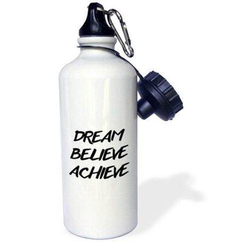 3dRose Dream Believe Achieve 21 oz Stainless Steel Water Bottle with Straw wb_245890_1