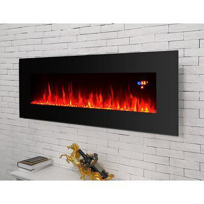 Ebern Designs Bevers Wall Mounted Electric Fireplace Fceh3923 Yahoo Shopping