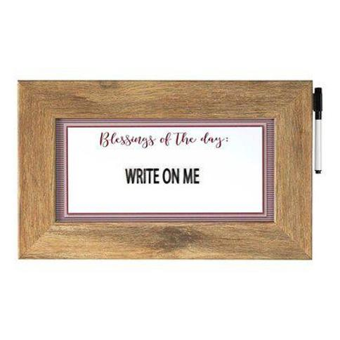 Winston Porter Framed Magnetic Wall Mounted Dry Erase Board CG295756