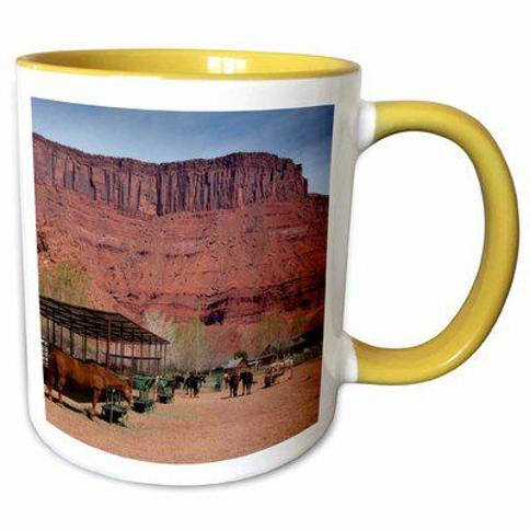 Symple Stuff Scoles Snowboarder Cardiff Fork Wasatch Utah USA Coffee Mug X112360392 Color: Yellow Capacity: 11 oz. Theme: Costales Sorrel River Ranch Moab Utah US