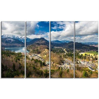 Design Art Alps And Lakes On Summer Day 4 Piece Photographic Print On Wrapped Canvas Set Pt14871 271 Yahoo Shopping