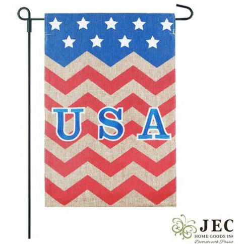 JEC Home Goods Americana Chevron USA 2-Sided Polyester 18 x 13 in. Garden Flag GF23003-0