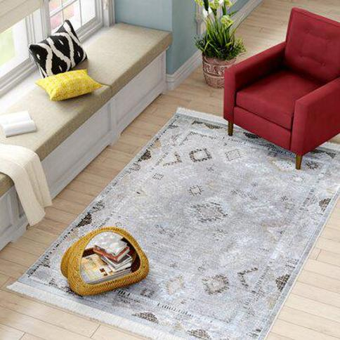 Bungalow Rose Centeno Silver Area Rug CHST8938 Rug Size: Rectangle 10' x 14'