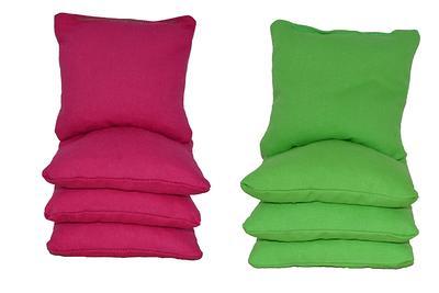 Fuchsia /& Orange 12oz Duck Cloth Cornhole Bags ACA Certified Fast Ship Whole Kernel Corn or All Weather Plastic Resin Filled
