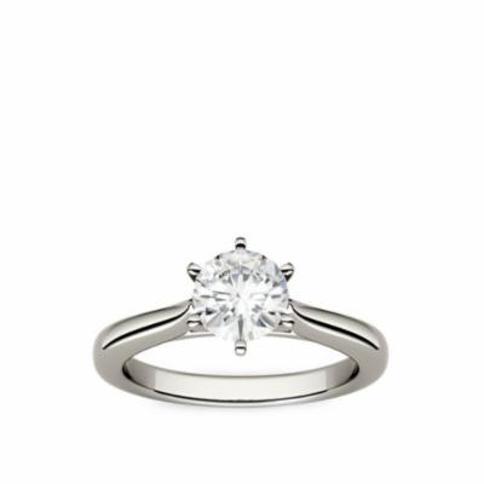 Charles & Colvard White Gold 1/2 ct. t.w. Moissanite Engagement Ring in 14K White Gold