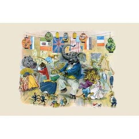 """Buyenlarge 'They Gave a Splendid Dance on Night' by G.H. Thompson Graphic Art 0-587-22470-3 Size: 44"""" H x 66"""" W"""