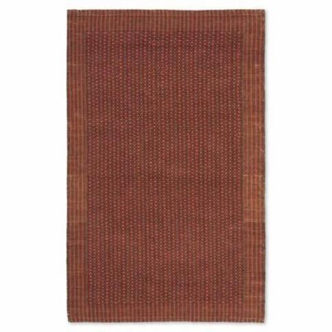 Safavieh Natural Fiber Tiffany 4-Foot x 6-Foot Area Rug in Brown/Rust