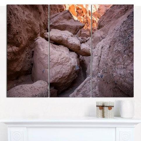 Design Art 'Desert Mountains in Kazakhstan' Photographic Print Multi-Piece Image on Canvas PT15264-3P