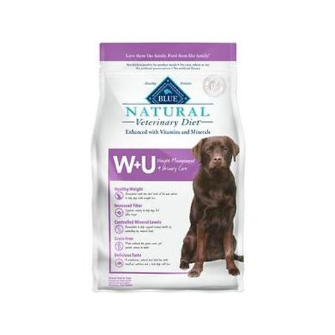 Blue Buffalo Natural Veterinary Diet W+U Weight Management + Urinary Care Grain-Free Dry Dog Food, 6-lb bag
