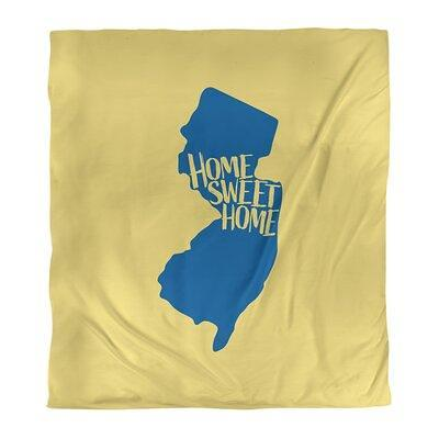 East Urban Home Home Sweet New Jersey Duvet Cover Color Yellow Blue Fabric Microfiber Polyester In Yellow Blue Microfiber Wayfair Yahoo Shopping