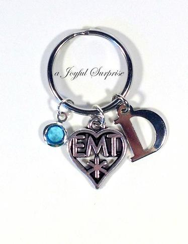 EMT KeyChain EMT Thank you Gift Medical Keyring Purse charm Luggage tag 96 Paramedic Key Chain Ambulance KeyChain Paramedic gifts