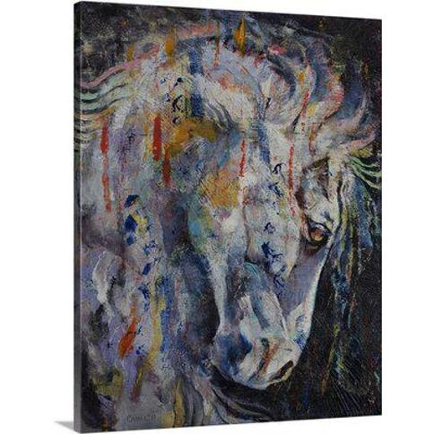 """Canvas On Demand Knight of Chess by Michael Creese Painting Print on Canvas 2386985_24_16x20_none / 2386985_24_24x30_none Size: 30"""" H x 24"""" W x 1.25"""" D"""