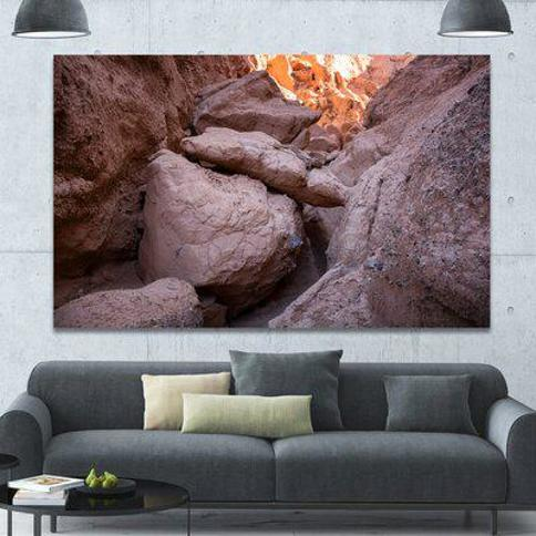 "Design Art 'Desert Mountains in Kazakhstan' Photographic Print on Wrapped Canvas PT15264- Size: 20"" H x 40"" W x 1"" D"