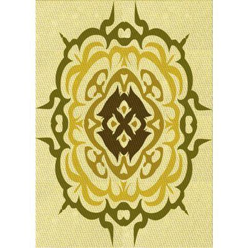 East Urban Home Valenzuela Wool Yellow Area Rug X113515387 Rug Size: Rectangle 3' x 5'