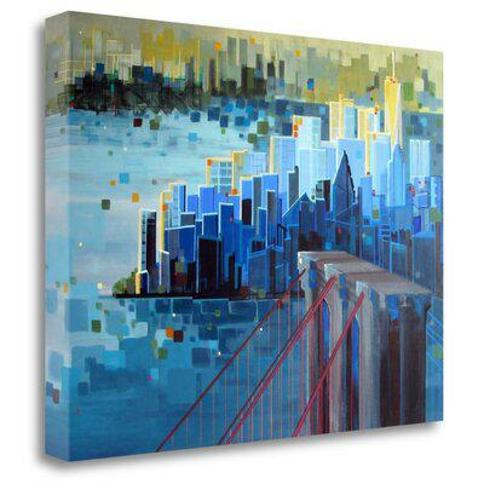 """Tangletown Fine Art 'Start Spreading the News' Graphic Art Print on Wrapped Canvas ICS1223D-2317c Size: 24"""" H x 32"""" W"""