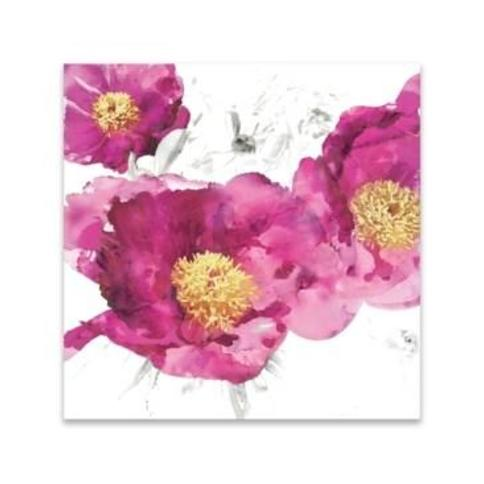 "Pink Bloom I Printed Acrylic Canvas Art - 18.5"" W x 18.5"" H x 0.75"" D"