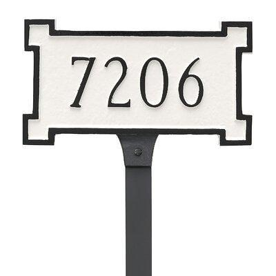 Montague Metal Products Inc New Yorker 1 Line Lawn Address Sign Finish Chocolate Silver Metal Size 0 25 L X 8 W X 4 5 H Wayfair Yahoo Shopping