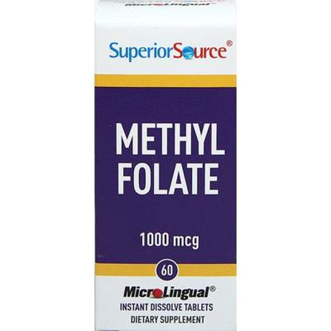 Superior Source Methyl Folate 1000 mcg Instant Dissolve Tablets-60 Quick Dissolving Tablets