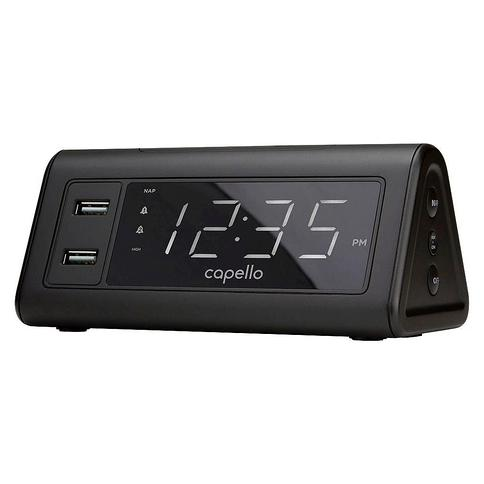 Digital Alarm Clock with 2 USB Ports - Capello