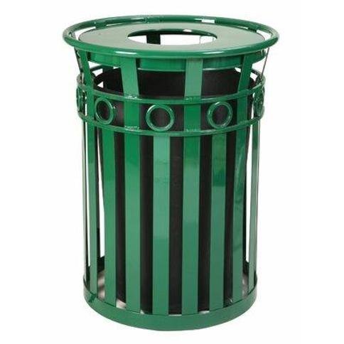 Witt Oakley Series SMB Receptacle 36 Gallon Trash Can M3600-R-FT Finish: Green