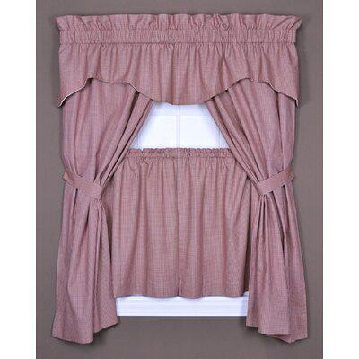 Home Expressions Lisette Sheer Rod Pocket Single Curtain Panel One Size Red Yahoo Shopping