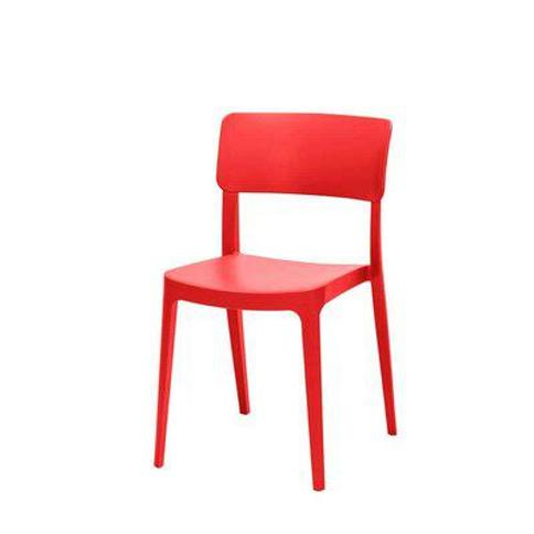 Source Contract Albany Stacking Patio Dining Chair SC-2607-162- Color: Red