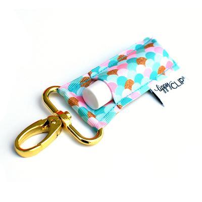 Gold Scales Keychain Chapstick Holder