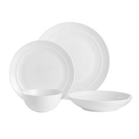 Over and Back Clarity 16-Piece Dinnerware Set in White