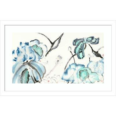 World Menagerie Lotus Study W Blue Green Iii By Nan Rae Picture Frame Painting Print On Paper Format Matte White In Blue White Wayfair Yahoo Shopping