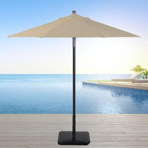 Longshore Tides Centeno 9' Market Sunbrella Umbrella X112119522 Fabric Color: Antique Beige Frame Color: Black