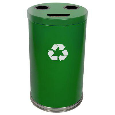 Rubbermaid Commercial Products Barclay Large 46 Gallon Multi Compartments Trash Recycling Bin Finish Standard Empire Green Stainless Steel Yahoo Shopping