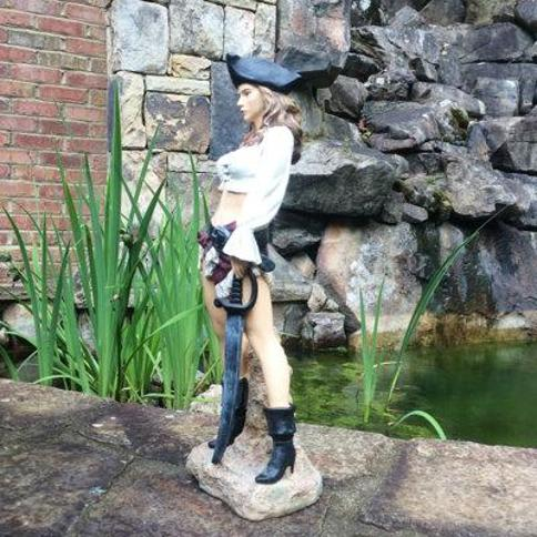 HomeStyles Life's a Beach Lady Pirate Statue 99617