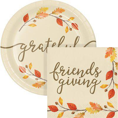 Creative Converting Thankful Friendsgiving Snack Party Supplies Kit For 24 Guests Paper Plastic In Beige Orange Wayfair Dtc5572e2g Yahoo Shopping
