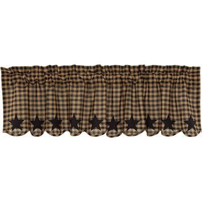 August Grove Window Valance X113652205 Color Black Size 16 H X 60 W Yahoo Shopping