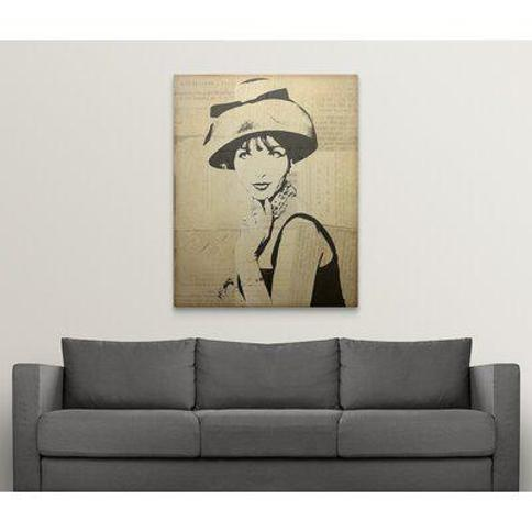 "Great Big Canvas 'Fashion News I' Graphic Art Print 1051869_1 Size: 48"" H x 38"" W x 1.5"" D Format: Canvas"