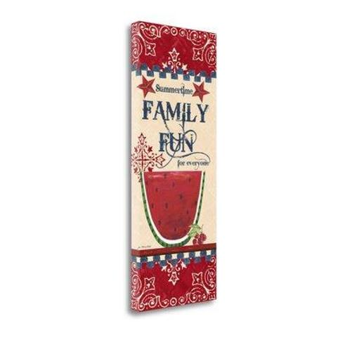Tangletown Fine Art 'Family Fun' by Jo Moulton Graphic Art on Wrapped Canvas SBJM6569-1332c