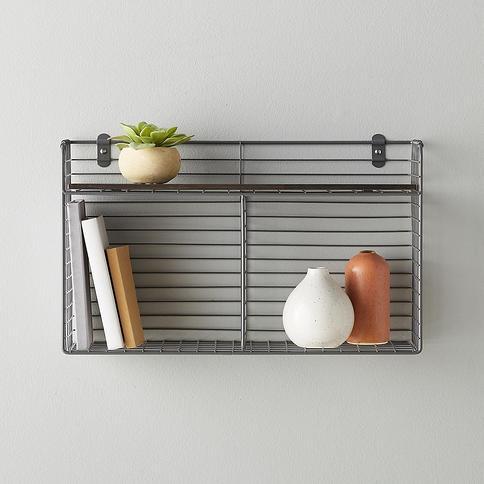 Wall-Mounted Double Bin with Shelf