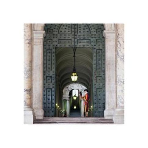 "Philippe Hugonnard Dolce Vita Rome 3 Swiss Guard of Vatican Canvas Art - 15.5"" x 21"""