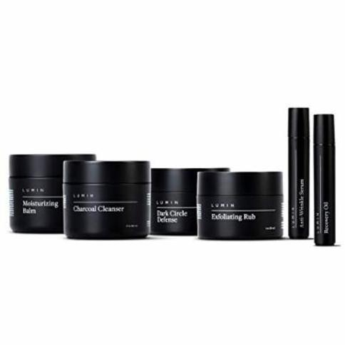 The Complete Skincare Gift Set for Men: 7 Piece Kit to Help with Clogged Pores, Dark Circles, Fine Lines, Wrinkles, Dryness, and Acne Scars - Achieve Your Best Look with Lumin