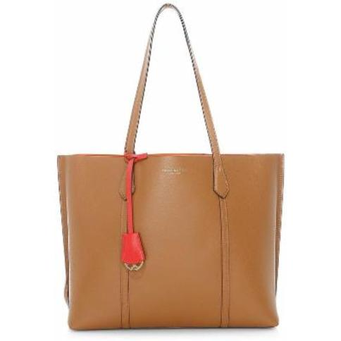 Perry Triple Compartment Leather Tote - Brown - Tory Burch Totes