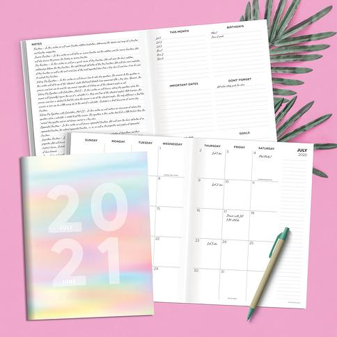 June 2021 All Bright Now Best Life Large 12x12 Monthly Planner July 2020