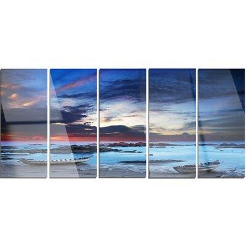 Design Art 'Colorful Traditional Asian Boats' 5 Piece Photographic Print on Metal Set MT14823-401