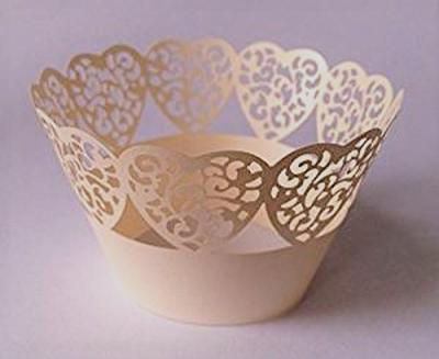 12 pcs Beautiful Silver Gray Petite Fleurs Rose Small Flowers Roses Wedding Cupcake Liners Liner Baking Cup Cupcake Wrapper Wrapper