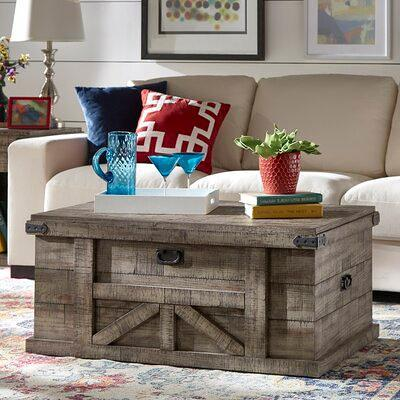 Rosalind Wheeler Catron Solid Wood Block Coffee Table With Storage X112053344 Yahoo Shopping