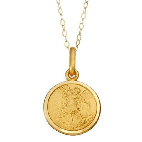 """14k Gold St. Michael Medal Pendant Necklace, Women's, Size: 18"", Yellow"""