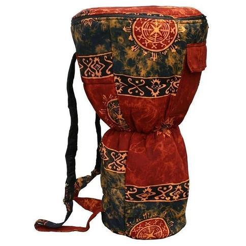 Handmade Auburn Cloth Djembe Drum Backpack Bag (Indonesia) (Gold/N/A)