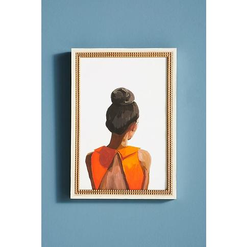 Top Knot 35 Wall Art By Artfully Walls in Orange Size S