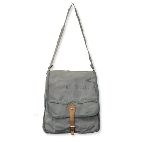 Handmade U.S.A Star Canvas Messenger Bag (India) (CANVAS MESSENGER BAG)