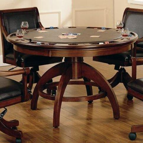 "Hillsdale Furniture 52"" Palm Springs Poker Table 4185GTB"
